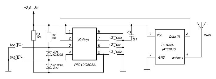 Рис.2 Схема силового ключа